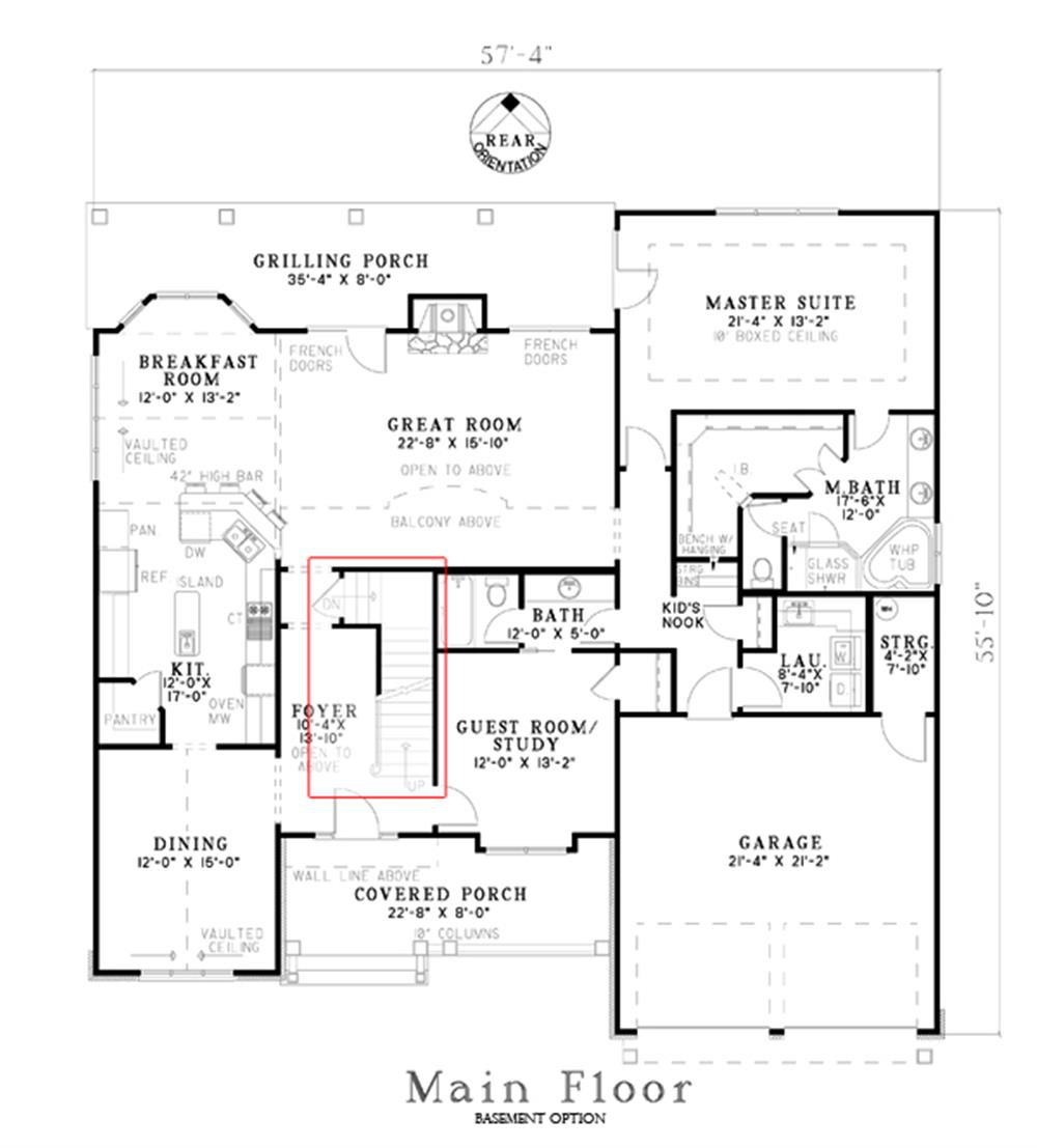 153-1706: Floor Plan Main Level