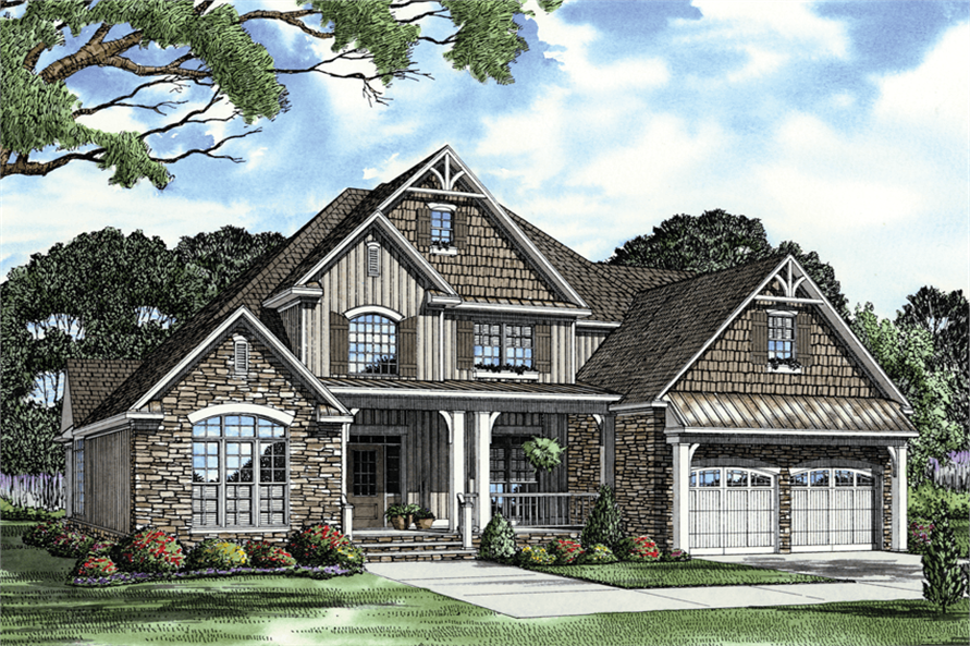 Home Plan Rendering of this 4-Bedroom,2481 Sq Ft Plan -153-1706