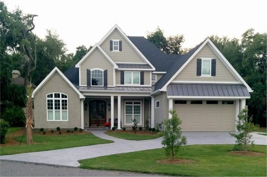 3-Bedroom, 2481 Sq Ft Country Craftsman Home Plan - 153-1706 - Main Exterior