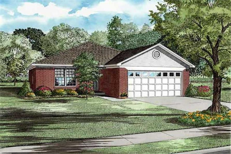 3-Bedroom, 1356 Sq Ft Ranch Home Plan - 153-1707 - Main Exterior