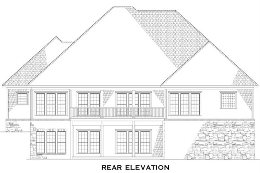 153-1712: Home Plan Rear Elevation