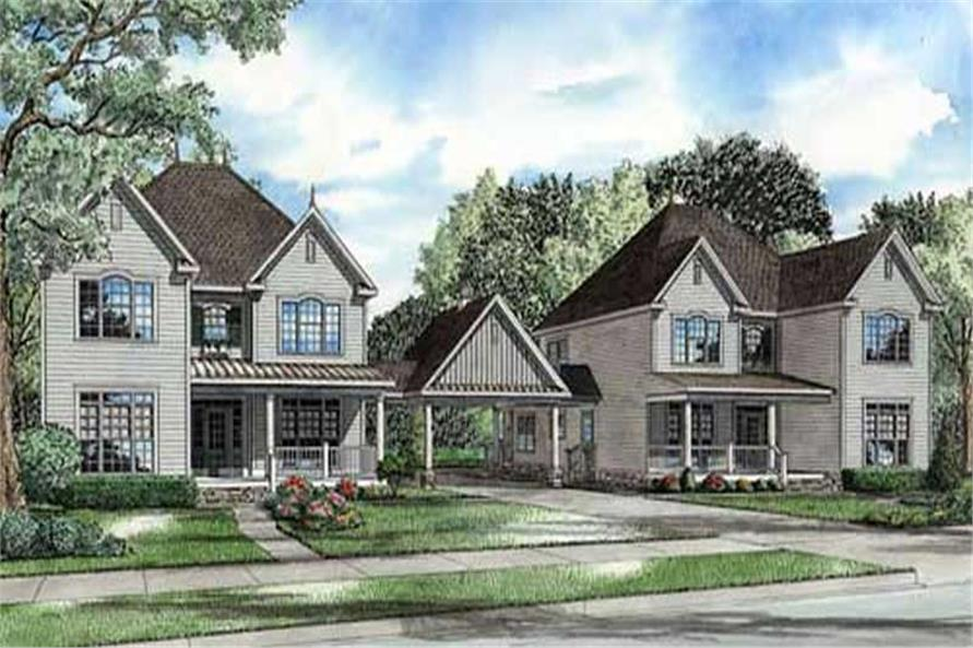 4-Bedroom, 3022 Sq Ft Country Home Plan - 153-1713 - Main Exterior