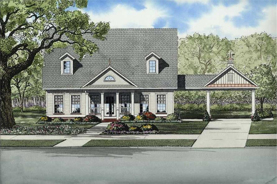 3-Bedroom, 2140 Sq Ft Colonial House Plan - 153-1714 - Front Exterior
