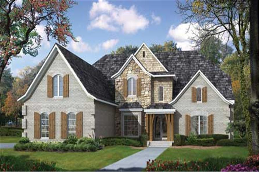 3-Bedroom, 3883 Sq Ft Craftsman House Plan - 153-1715 - Front Exterior