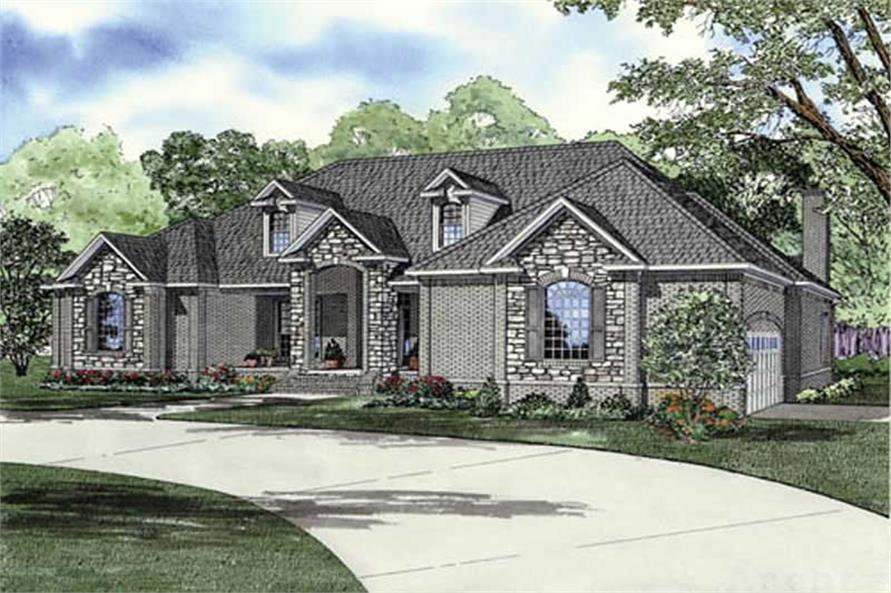 MAIN ELEVATION of this 3-Bedroom,3901 Sq Ft Plan -3901