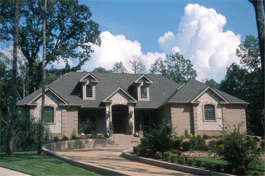 3-Bedroom, 3901 Sq Ft European Home Plan - 153-1719 - Main Exterior
