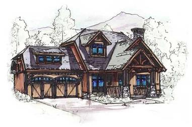 3-Bedroom, 1834 Sq Ft Home Plan - 153-1720 - Main Exterior