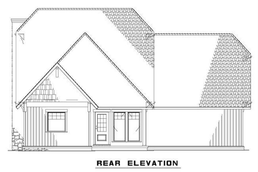 Home Plan Rear Elevation of this 3-Bedroom,1952 Sq Ft Plan -153-1720