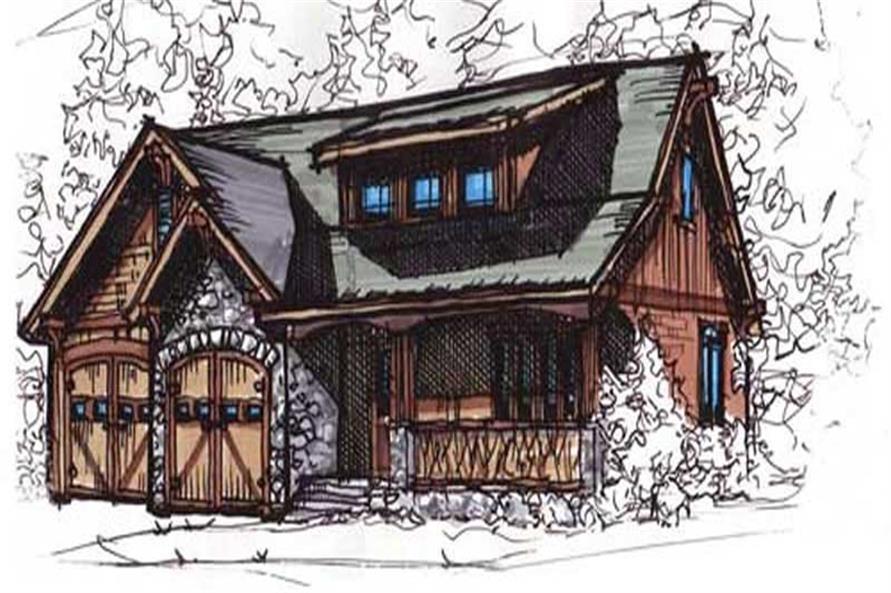 153-1723: Home Plan Rendering-Front Door