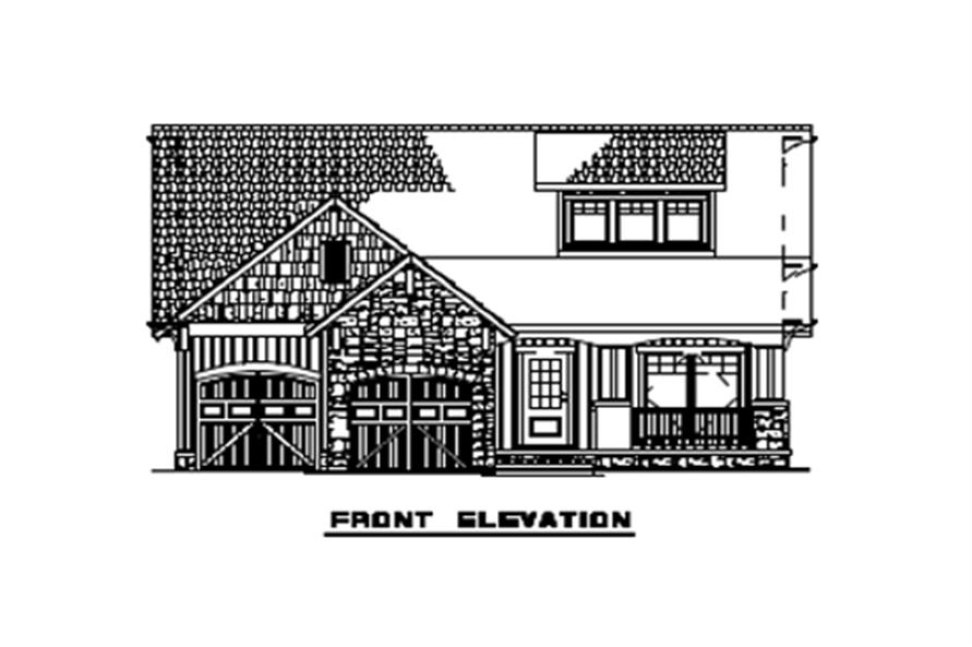 153-1723: Home Plan Front Elevation