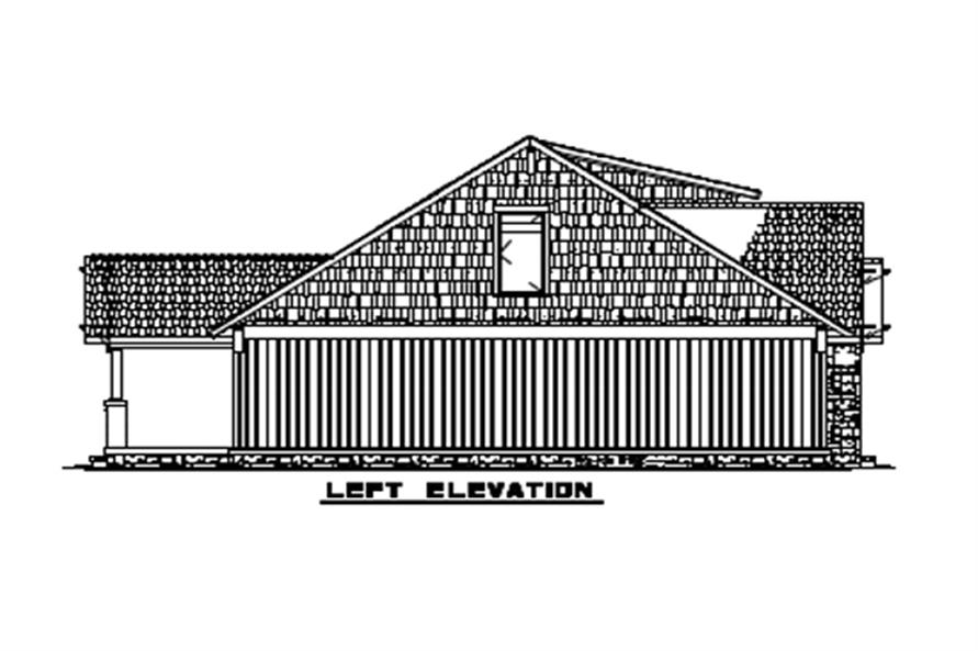 Home Plan Left Elevation of this 3-Bedroom,1654 Sq Ft Plan -153-1723