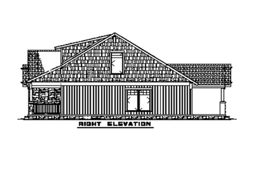 Home Plan Right Elevation of this 3-Bedroom,1654 Sq Ft Plan -153-1723