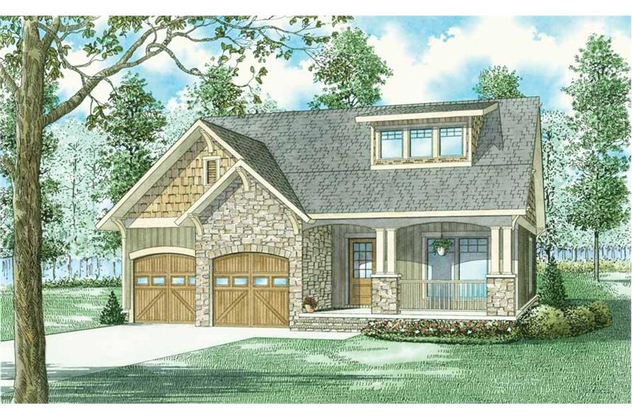 Main image for Craftsman vacation house plan # 153-1439