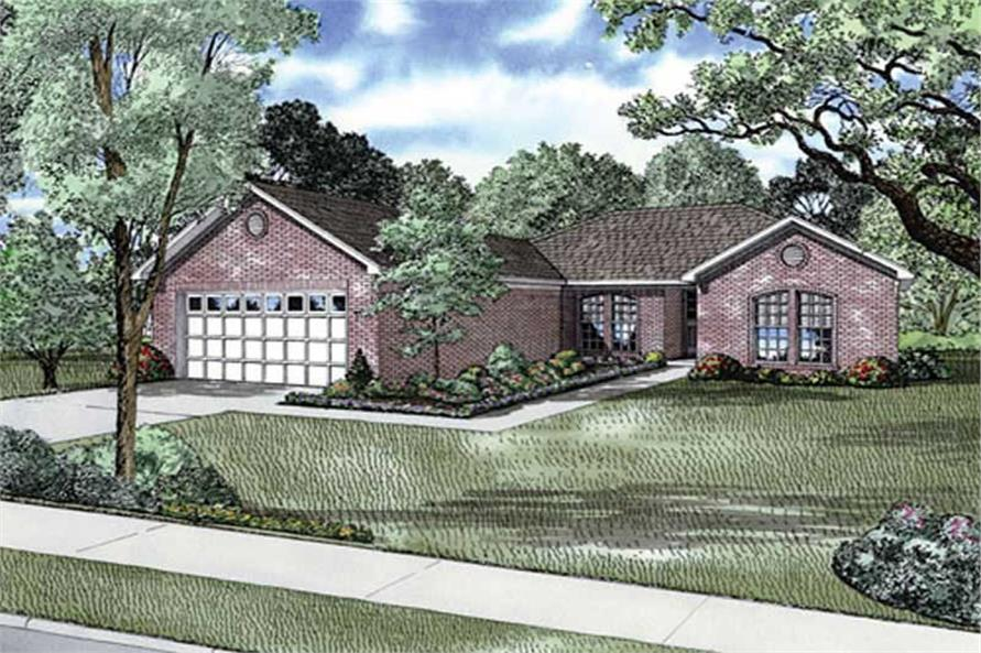 4-Bedroom, 1552 Sq Ft Ranch Home Plan - 153-1724 - Main Exterior