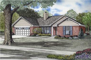 3-Bedroom, 1295 Sq Ft Ranch House Plan - 153-1725 - Front Exterior