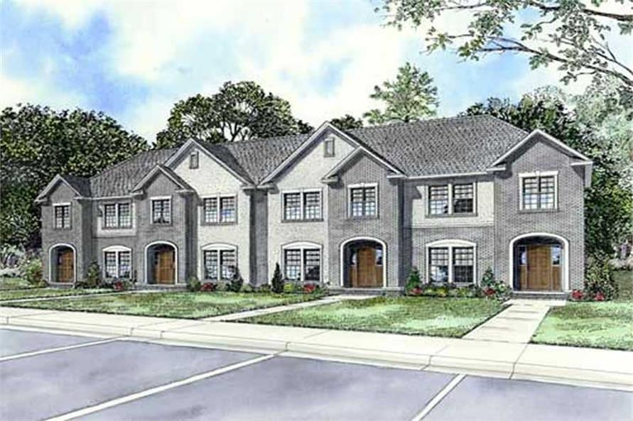 Multi unit house plans home design ndg 1109 11456 for Multi unit home plans