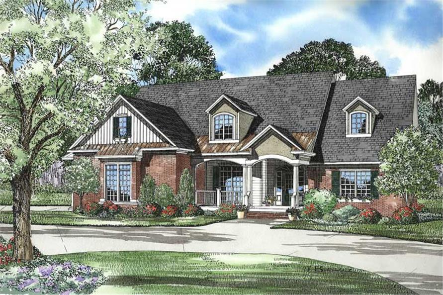 4-Bedroom, 2945 Sq Ft Country Home Plan - 153-1728 - Main Exterior