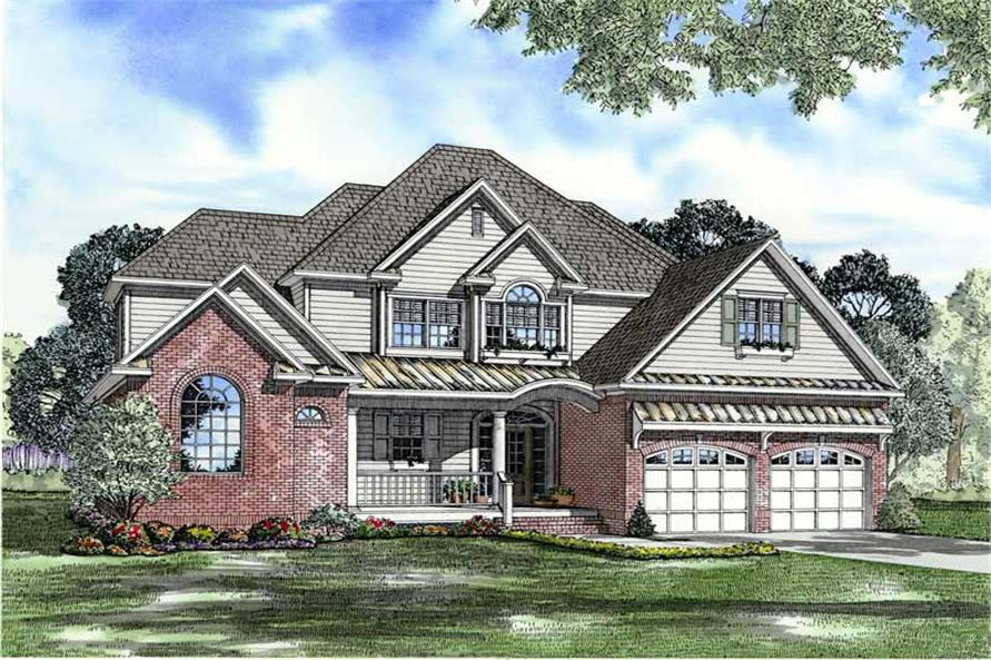 4-Bedroom, 2642 Sq Ft Ranch Home Plan - 153-1729 - Main Exterior