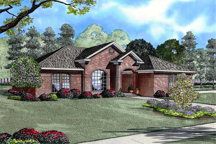 3-Bedroom, 1807 Sq Ft Contemporary Home Plan - 153-1731 - Main Exterior