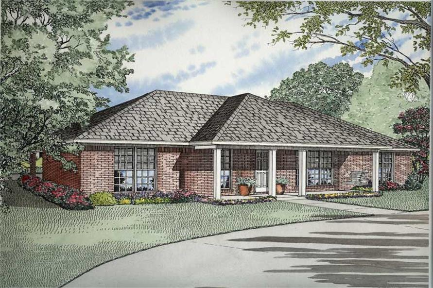 Main image for house plan # 8476