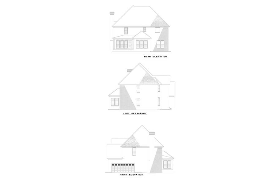 Home Plan Rear Elevation of this 3-Bedroom,2435 Sq Ft Plan -153-1738