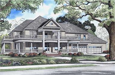 5-Bedroom, 7870 Sq Ft Colonial House Plan - 153-1742 - Front Exterior