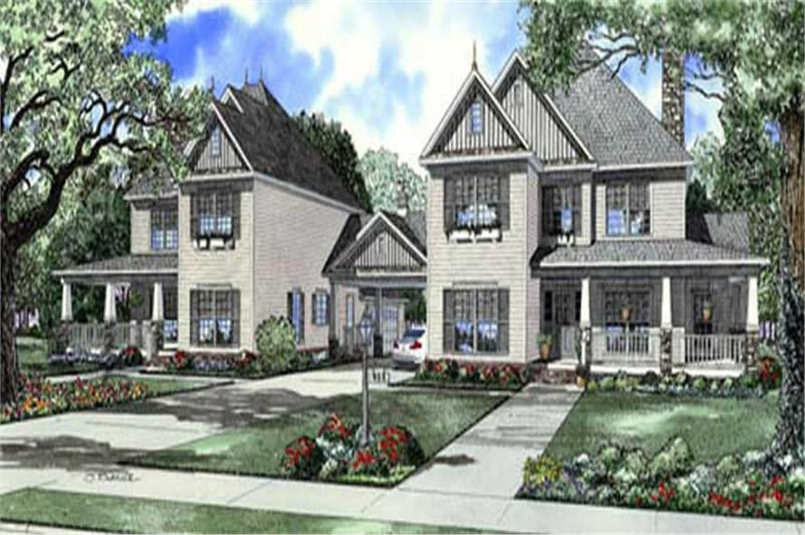 5-Bedroom, 2516 Sq Ft Colonial Home Plan - 153-1743 - Main Exterior