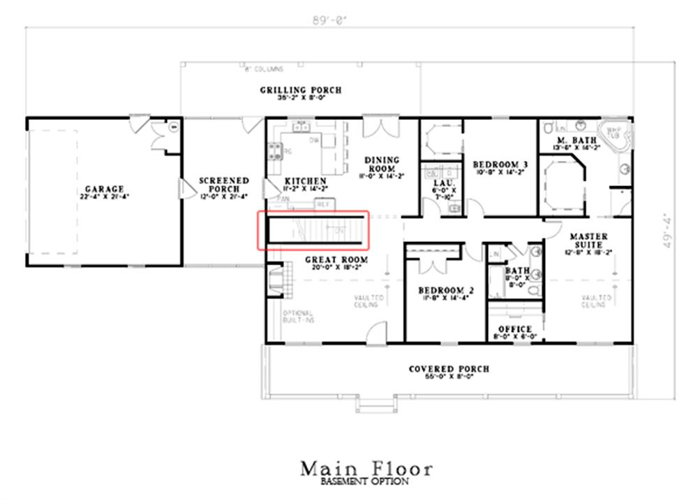 153-1744: Floor Plan Main Level