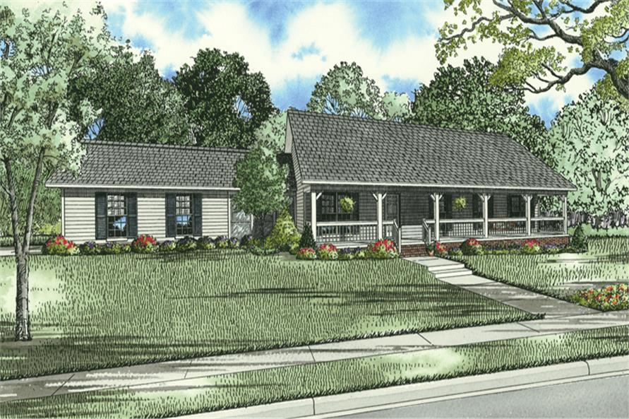 3 bedrm 1800 sq ft country house plan 153 1744 for 1800 square foot home plans