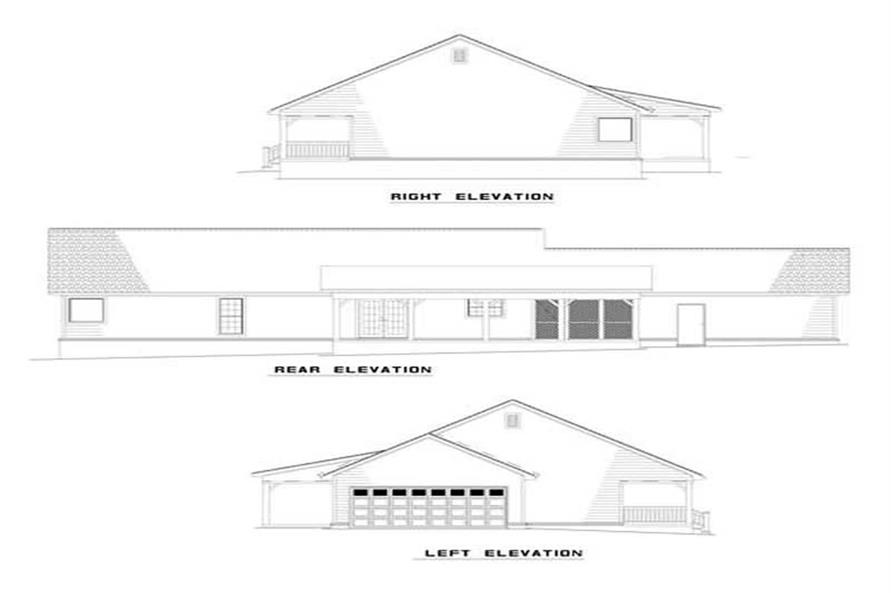 Home Plan Left Elevation of this 3-Bedroom,1800 Sq Ft Plan -153-1744