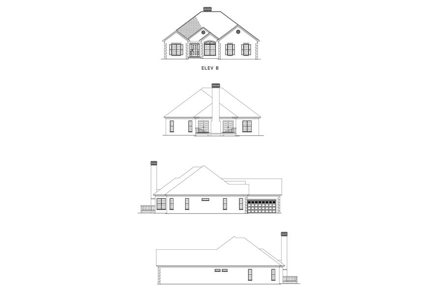 Home Plan Front Elevation of this 3-Bedroom,2413 Sq Ft Plan -153-1745