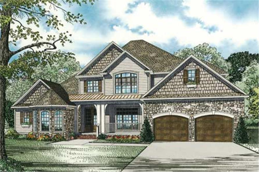 Home Exterior Photograph of this 4-Bedroom,3990 Sq Ft Plan -3990