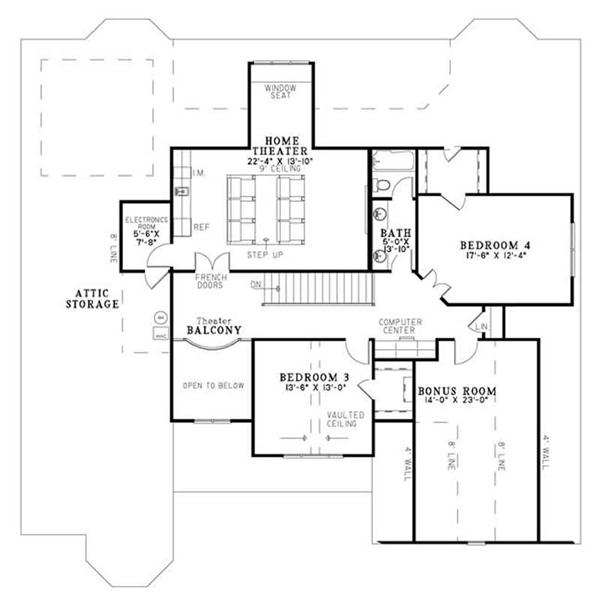 House Plan NDG-1183 Second Floor Plan