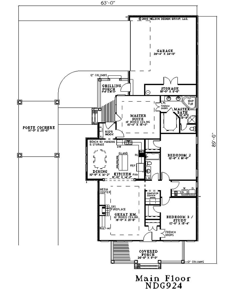 Traditional country southern colonial house plans for Traditional colonial house plans