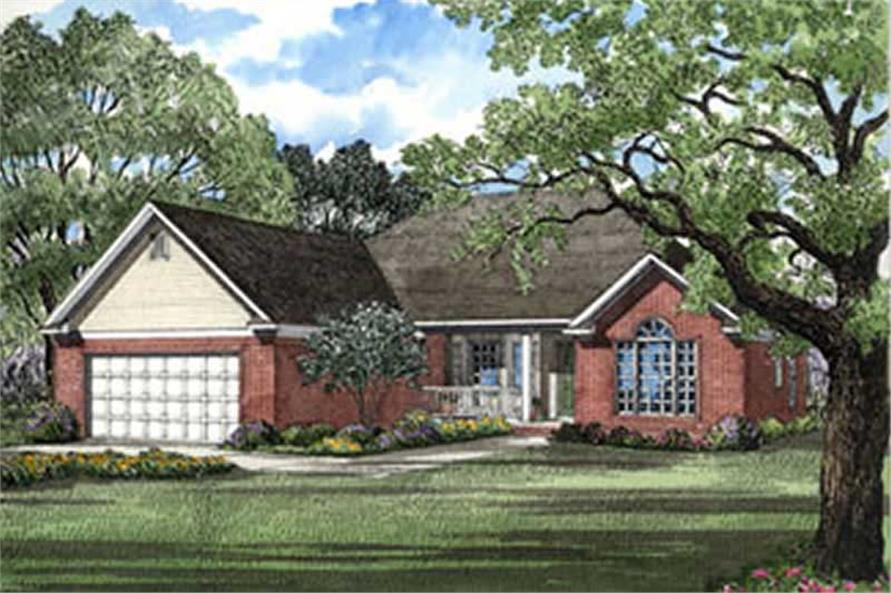 Front elevation of Country home (ThePlanCollection: House Plan #153-1749)
