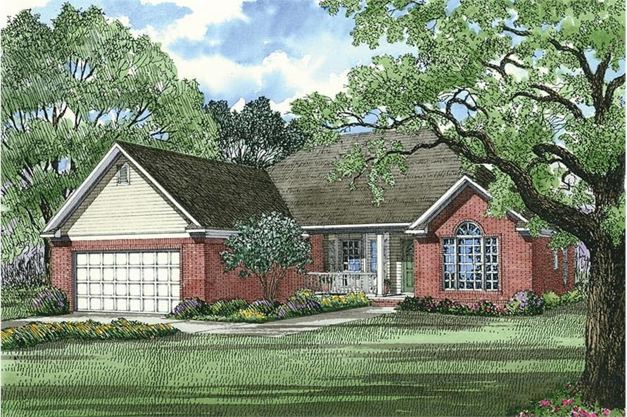 3-Bedroom, 1538 Sq Ft Country House Plan - 153-1749 - Front Exterior