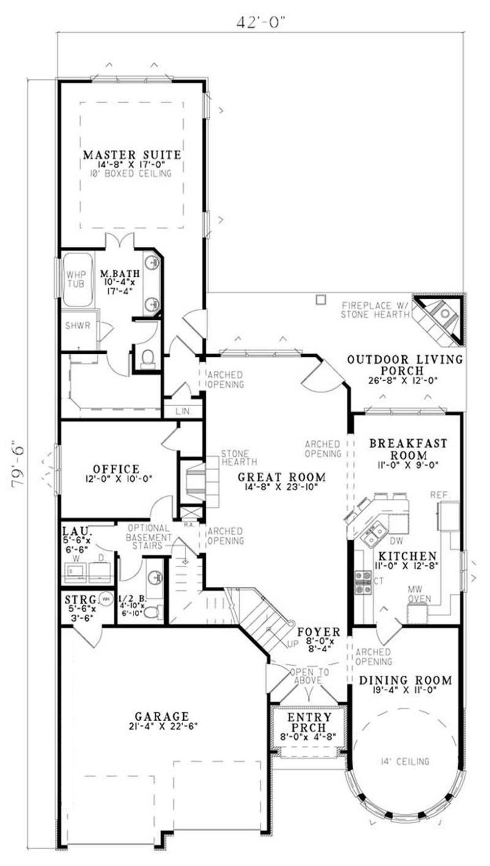 House Plan NDG-1184 First Floor