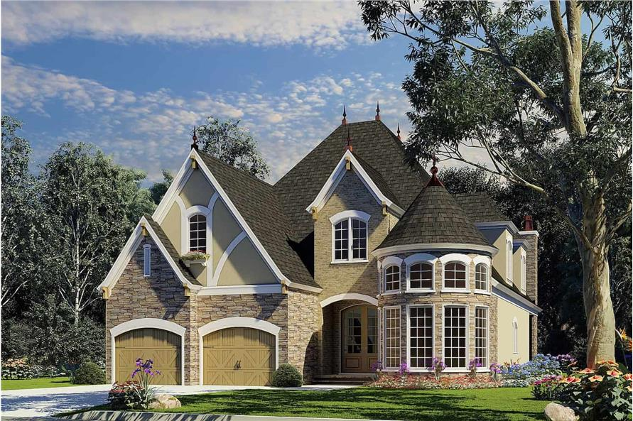 Front View of this 4-Bedroom,2889 Sq Ft Plan -153-1750