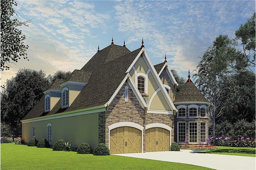 Left View of this 4-Bedroom,2889 Sq Ft Plan -153-1750