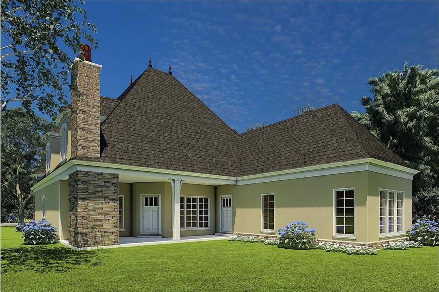 Rear View of this 4-Bedroom,2889 Sq Ft Plan -153-1750