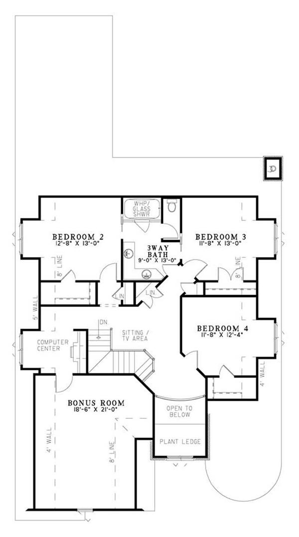 houseplan ndg-1184 Second Floor