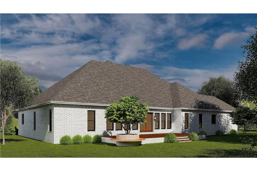 Rear View of this 4-Bedroom,2833 Sq Ft Plan -153-1751