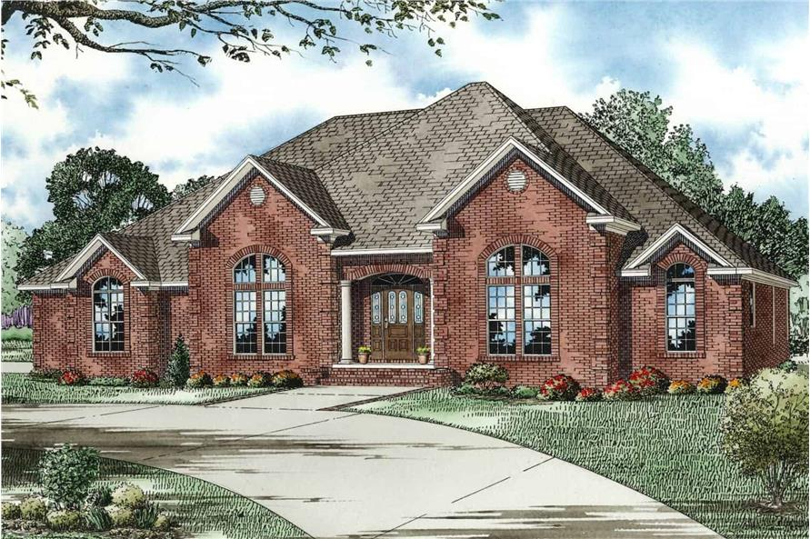 Front View of this 4-Bedroom,2833 Sq Ft Plan -153-1751