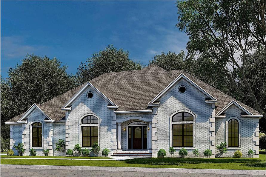 4-Bedroom, 2833 Sq Ft Traditional Home - Plan #153-1751 - Main Exterior