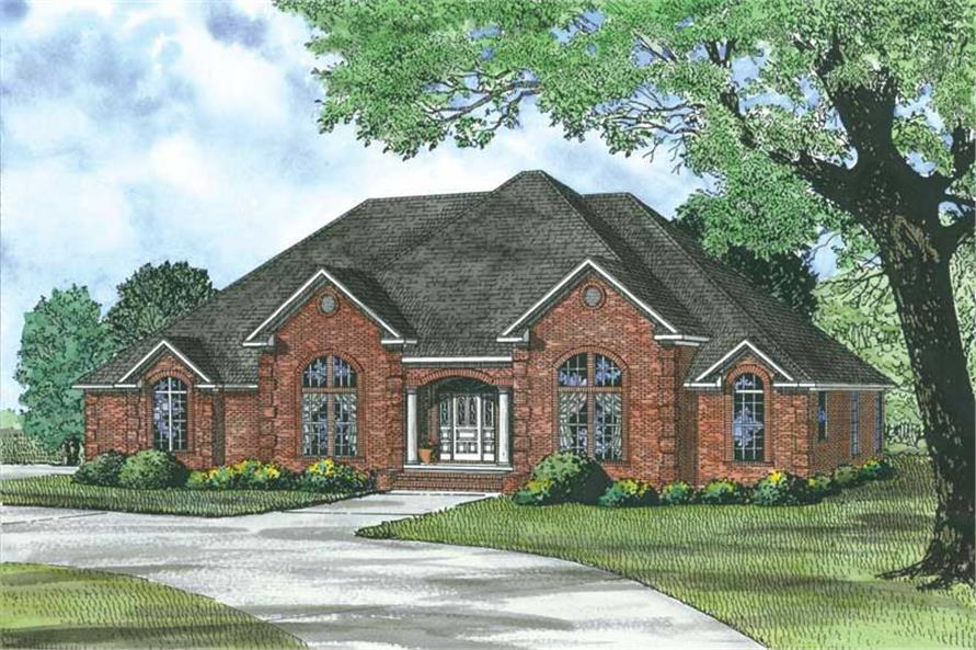 4-Bedroom, 2833 Sq Ft Country House Plan - 153-1751 - Front Exterior