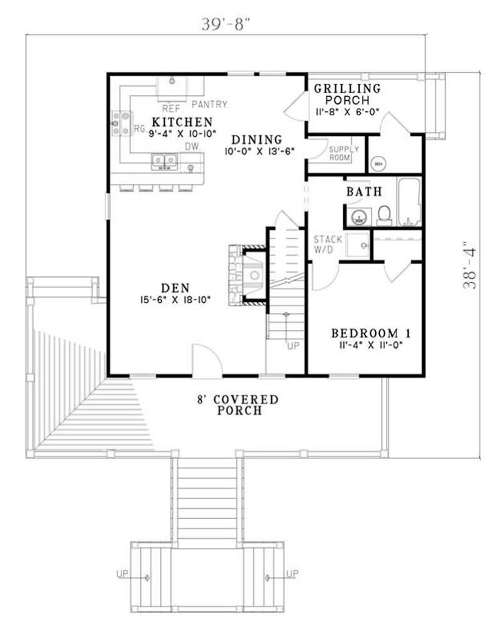 Home Plan NDG-1188 first floor