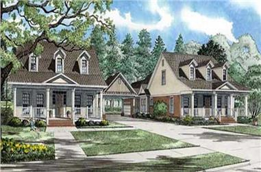 4-Bedroom, 2315 Sq Ft Cape Cod Home Plan - 153-1753 - Main Exterior