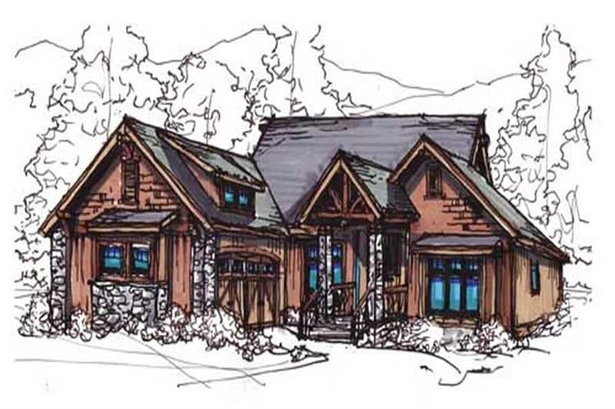 Home Plan Rendering of this 3-Bedroom,1874 Sq Ft Plan -153-1755