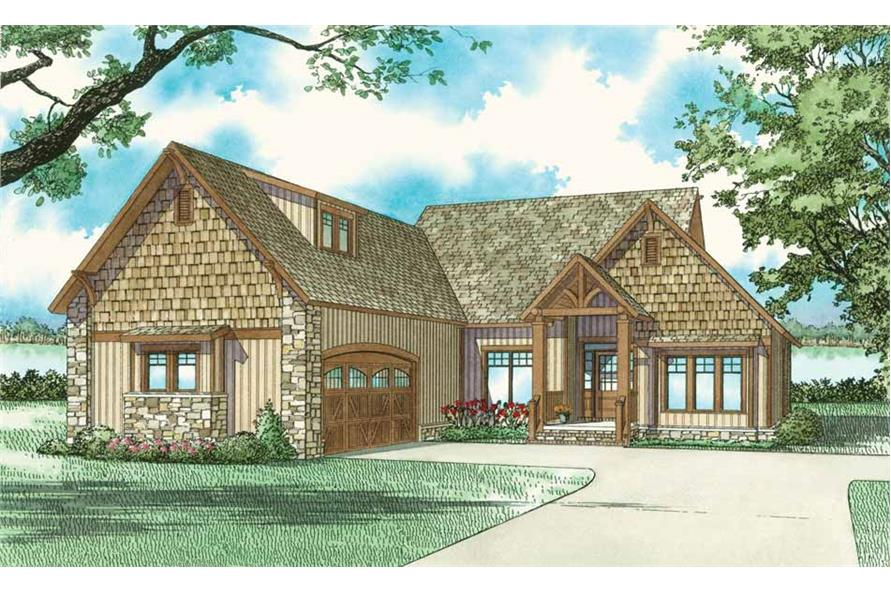 Front elevation of Vacation Homes home (ThePlanCollection: House Plan #153-1755)