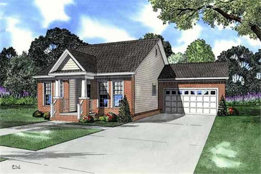 3-Bedroom, 1252 Sq Ft European Home Plan - 153-1758 - Main Exterior